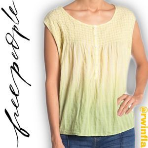 Free People Little Bit of Something Ombre Blouse S